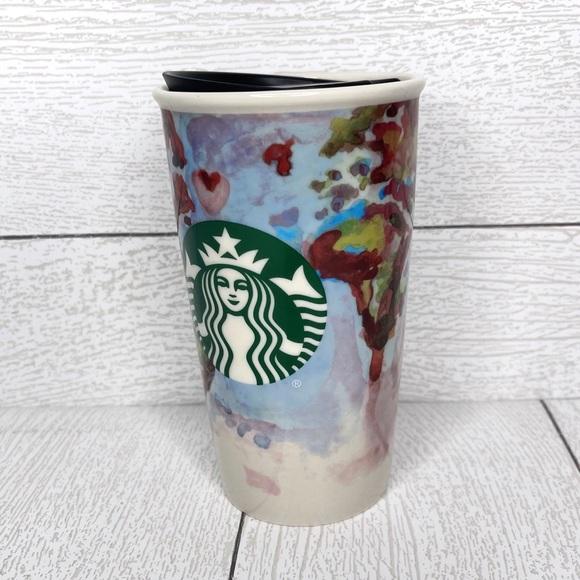 Starbucks   Watercolor World Map Circa 2015